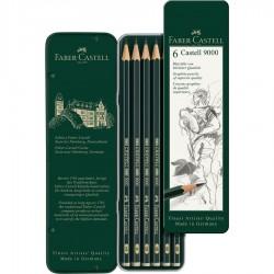 Estuche 6 lápices Castell...